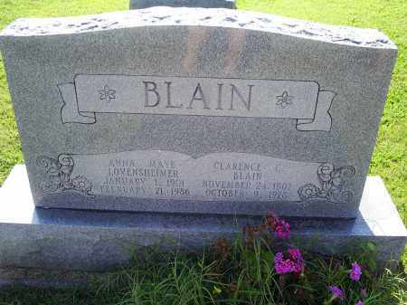 BLAIN, ANNA MAYE - Ross County, Ohio | ANNA MAYE BLAIN - Ohio Gravestone Photos