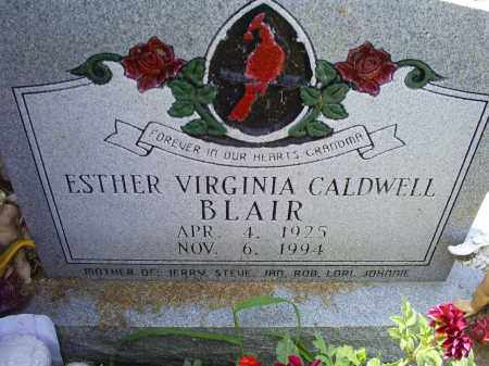 BLAIR, ESTHER VIRGINIA - Ross County, Ohio | ESTHER VIRGINIA BLAIR - Ohio Gravestone Photos