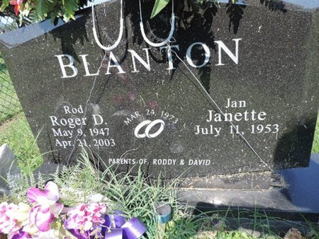 BLANTON, JANETTE - Ross County, Ohio | JANETTE BLANTON - Ohio Gravestone Photos