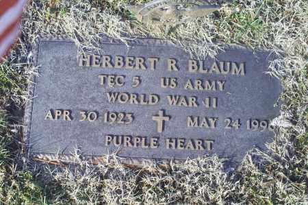 BLAUM, HERBERT R. - Ross County, Ohio | HERBERT R. BLAUM - Ohio Gravestone Photos