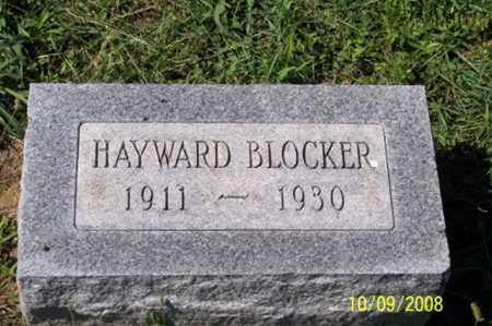 BLOCKER, HAYWARD - Ross County, Ohio | HAYWARD BLOCKER - Ohio Gravestone Photos