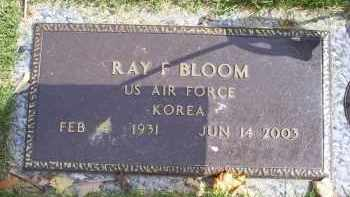 BLOOM, RAY F. - Ross County, Ohio | RAY F. BLOOM - Ohio Gravestone Photos