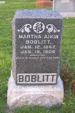 BOBLITT, MARTHA - Ross County, Ohio | MARTHA BOBLITT - Ohio Gravestone Photos