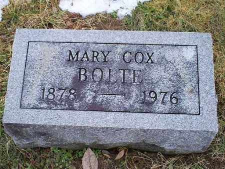 COX BOLTE, MARY - Ross County, Ohio | MARY COX BOLTE - Ohio Gravestone Photos