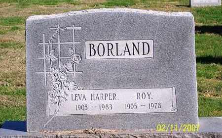 HARPER BORLAND, LEVA - Ross County, Ohio | LEVA HARPER BORLAND - Ohio Gravestone Photos