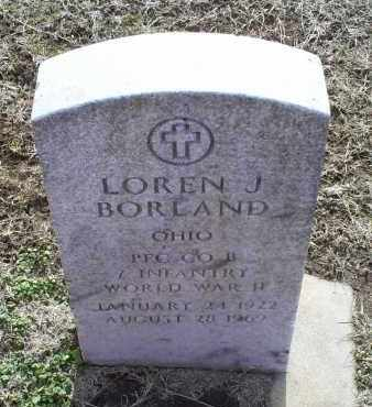 BORLAND, LOREN J. - Ross County, Ohio | LOREN J. BORLAND - Ohio Gravestone Photos
