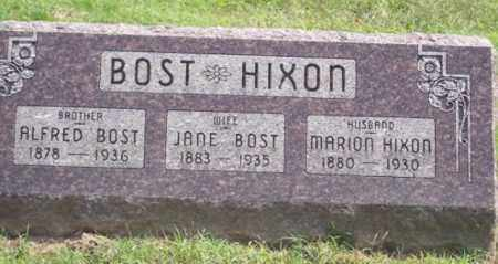 BOST HIXON, JANE - Ross County, Ohio | JANE BOST HIXON - Ohio Gravestone Photos