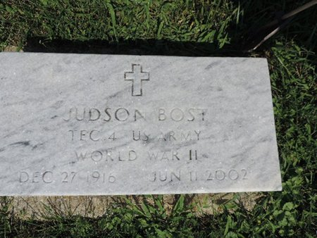 BOST, JUDSON - Ross County, Ohio | JUDSON BOST - Ohio Gravestone Photos