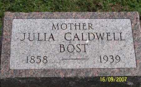 BOST, JULIA - Ross County, Ohio | JULIA BOST - Ohio Gravestone Photos