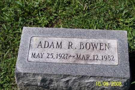 BOWEN, ADAM R. - Ross County, Ohio | ADAM R. BOWEN - Ohio Gravestone Photos