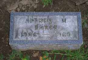 BOWER, ALTHEA M. - Ross County, Ohio | ALTHEA M. BOWER - Ohio Gravestone Photos