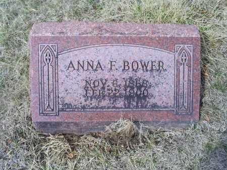 BOWER, ANNA F. - Ross County, Ohio | ANNA F. BOWER - Ohio Gravestone Photos