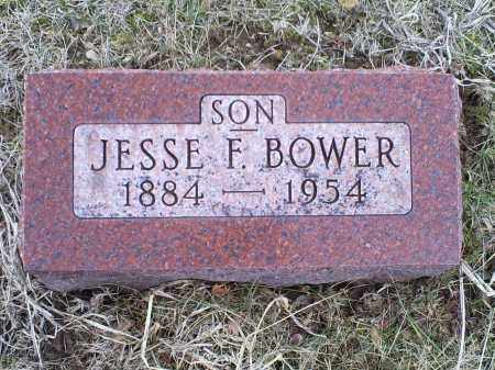 BOWER, JESSE F. - Ross County, Ohio | JESSE F. BOWER - Ohio Gravestone Photos