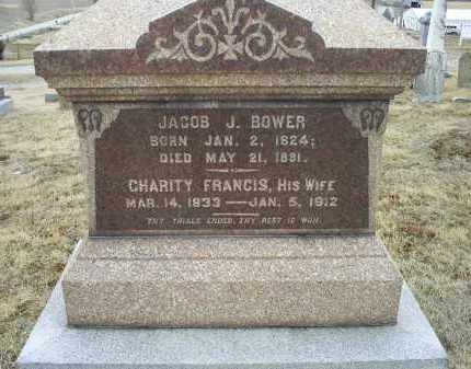 FRANCIS BOWER, CHARITY - Ross County, Ohio | CHARITY FRANCIS BOWER - Ohio Gravestone Photos
