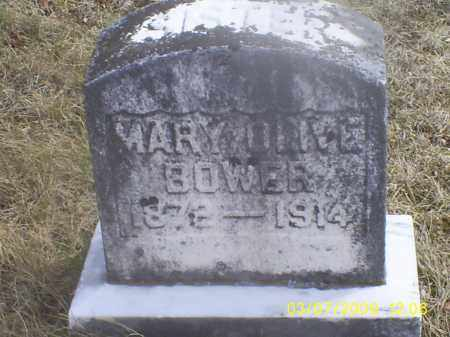 BOWER, MARY OLIVE - Ross County, Ohio | MARY OLIVE BOWER - Ohio Gravestone Photos