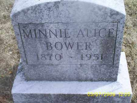 BOWER, MINNIE ALICE - Ross County, Ohio | MINNIE ALICE BOWER - Ohio Gravestone Photos