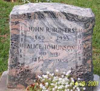 TOMLINSON BOWERS, ALICE - Ross County, Ohio | ALICE TOMLINSON BOWERS - Ohio Gravestone Photos
