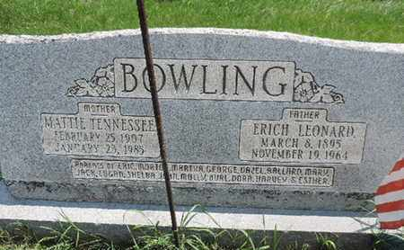 BOWLING, MATTIE TENNESSEE - Ross County, Ohio | MATTIE TENNESSEE BOWLING - Ohio Gravestone Photos