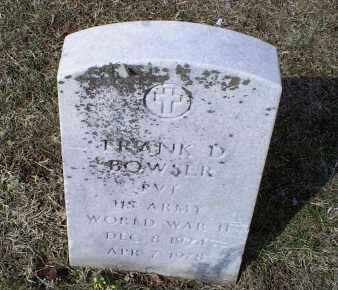 BOWSER, FRANK D. - Ross County, Ohio | FRANK D. BOWSER - Ohio Gravestone Photos