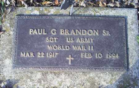 BRANDON, PAUL G. SR. - Ross County, Ohio | PAUL G. SR. BRANDON - Ohio Gravestone Photos