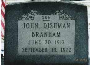 BRANHAM, JOHN DISHMAN - Ross County, Ohio | JOHN DISHMAN BRANHAM - Ohio Gravestone Photos