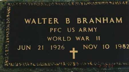 BRANHAM, WALTER B. - Ross County, Ohio | WALTER B. BRANHAM - Ohio Gravestone Photos