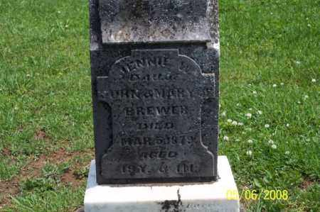 BREWER, JENNIE W. - Ross County, Ohio | JENNIE W. BREWER - Ohio Gravestone Photos