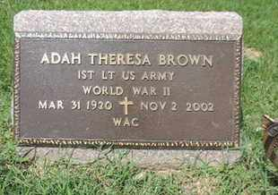 BROWN, ADAH THERESA - Ross County, Ohio | ADAH THERESA BROWN - Ohio Gravestone Photos