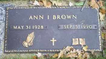BROWN, ANN I. - Ross County, Ohio | ANN I. BROWN - Ohio Gravestone Photos