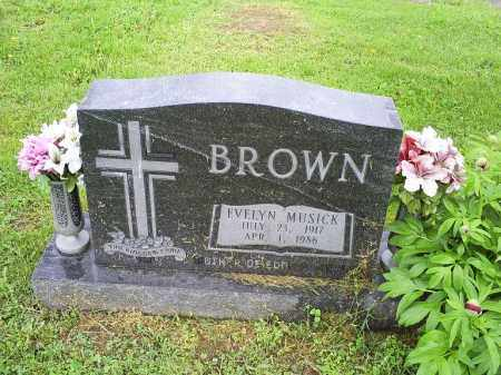 BROWN, EVELYN - Ross County, Ohio | EVELYN BROWN - Ohio Gravestone Photos