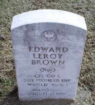 BROWN, EDWARD LEROY - Ross County, Ohio | EDWARD LEROY BROWN - Ohio Gravestone Photos
