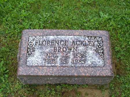 ACKLEY BROWN, FLORENCE - Ross County, Ohio | FLORENCE ACKLEY BROWN - Ohio Gravestone Photos
