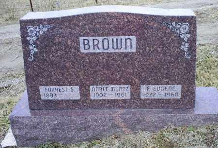 BROWN, F. EUGENE - Ross County, Ohio | F. EUGENE BROWN - Ohio Gravestone Photos