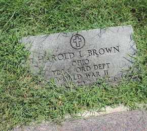 BROWN, HAROLD L - Ross County, Ohio | HAROLD L BROWN - Ohio Gravestone Photos