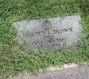 BROWN, HAROLD L - Ross County, Ohio | HAROLD L BROWN - Ohio Gravestone Photos