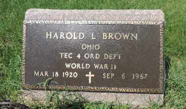 BROWN, HAROLD L. - Ross County, Ohio | HAROLD L. BROWN - Ohio Gravestone Photos