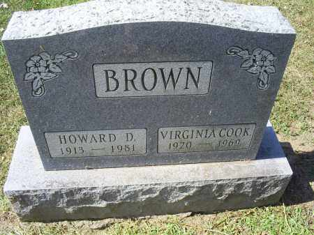 COOK BROWN, VIRGINIA - Ross County, Ohio | VIRGINIA COOK BROWN - Ohio Gravestone Photos
