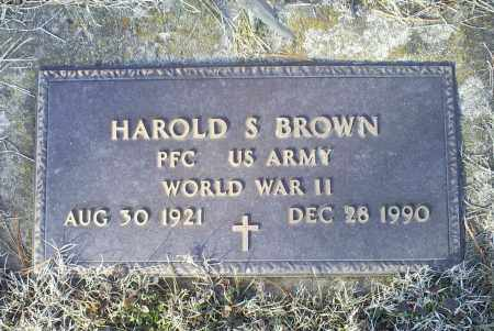 BROWN, HAROLD S. - Ross County, Ohio | HAROLD S. BROWN - Ohio Gravestone Photos