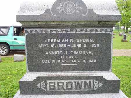 TIMMONS BROWN, ANNICE J. - Ross County, Ohio | ANNICE J. TIMMONS BROWN - Ohio Gravestone Photos
