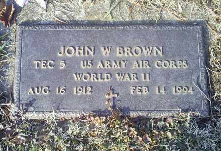 BROWN, JOHN W. - Ross County, Ohio | JOHN W. BROWN - Ohio Gravestone Photos