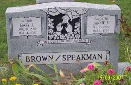 BROWN SPEAKMAN, FANNIE J. - Ross County, Ohio | FANNIE J. BROWN SPEAKMAN - Ohio Gravestone Photos