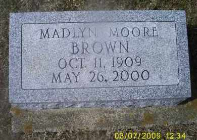 MOORE BROWN, MADLYN - Ross County, Ohio | MADLYN MOORE BROWN - Ohio Gravestone Photos