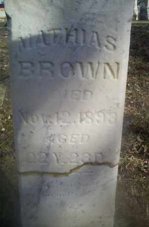 BROWN, MATHIAS - Ross County, Ohio | MATHIAS BROWN - Ohio Gravestone Photos