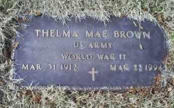 BROWN, THELMA MAE - Ross County, Ohio | THELMA MAE BROWN - Ohio Gravestone Photos