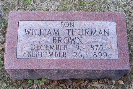 BROWN, WILLIAM THURMAN - Ross County, Ohio | WILLIAM THURMAN BROWN - Ohio Gravestone Photos