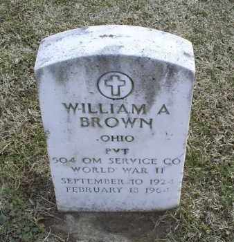 BROWN, WILLIAM A. - Ross County, Ohio | WILLIAM A. BROWN - Ohio Gravestone Photos