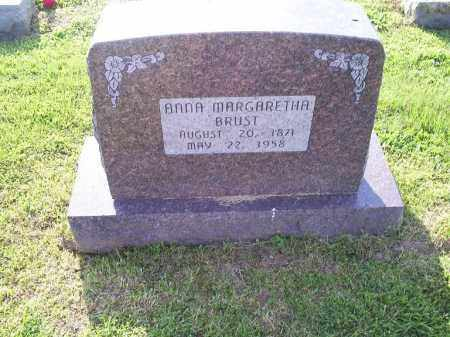 BRUST, ANNA MARGARETHA - Ross County, Ohio | ANNA MARGARETHA BRUST - Ohio Gravestone Photos