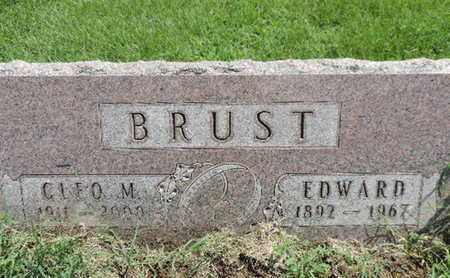 BRUST, EDWARD - Ross County, Ohio | EDWARD BRUST - Ohio Gravestone Photos