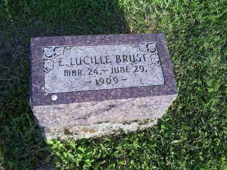 BRUST, E. LUCILLE - Ross County, Ohio   E. LUCILLE BRUST - Ohio Gravestone Photos