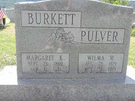 BURKETT, MARGARET K. - Ross County, Ohio | MARGARET K. BURKETT - Ohio Gravestone Photos